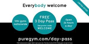 3 Day Pass @ Pure Gym