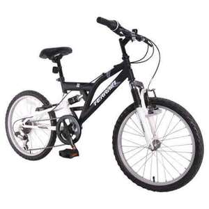 "Terrain Freemont 20"" Dual Suspension Boys 14"" Black Mountain Bike WAS £160 NOW £45 @ tesco direct"