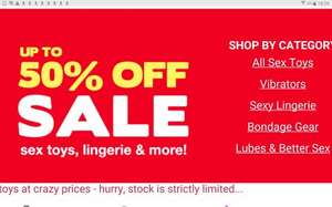 Sale Sex Toys & Discount Lingerie from £1.50 @ love honey