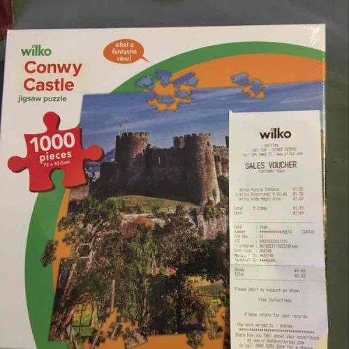 Conwy castle jigsaw £1.25 instore Wilko