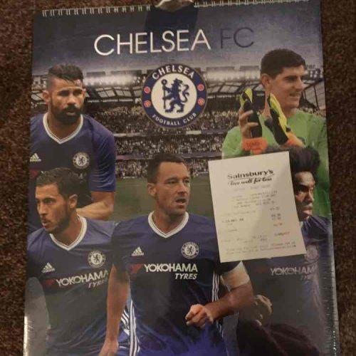 Chelsea calendar 70p in sainsburys