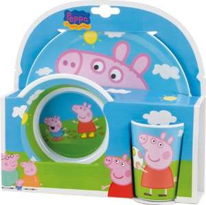 peppa pig plate bowl and cup only £6.99 prime (£10.96 non-Prime)