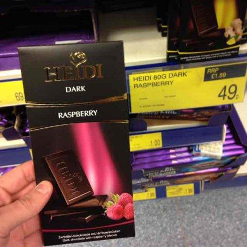 Vegan posh Heidi chocolate 49p instore @ B&M