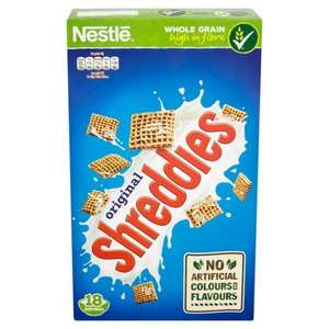 Nestle Shreddies 750g @ Ocado was £3.39 now £1.69 @ Ocado