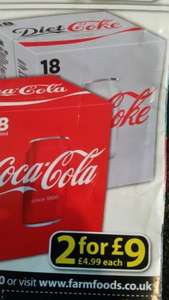 coke cans 330ml 18 pack - £4.99 @ Farmfoods