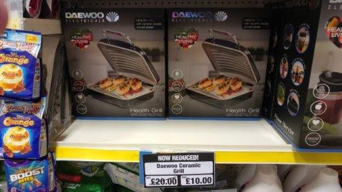 Daewoo Ceramic Grill £10 @ Poundland