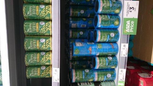 tuna fish John West - five cans for £3 @ Asda