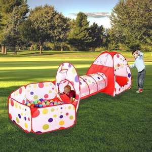 MAIKEHIGH soft play Indoor/Outdoor Play Tunnel and Play Tent Cubby-Tube-Teepee 3 In 1 Playground for Children Baby Kids Toys BALLS NOT INCLUDED £22.99 Sold by MAIKE-MALL and Fulfilled by Amazon