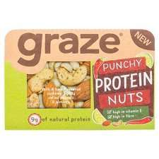 Graze Punchy Protein Nuts 41g, reduced from £1.19 to £0.59 at Tesco