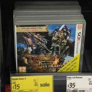 monster hunter 4 ultimate (3DS) £15 @ ASDA instore