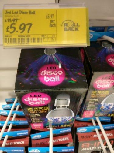 jml led disco ball £5.97 instore @ Asda