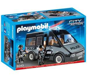 Playmobil 6043 City Action Police Van with Lights and Sound - £9.39 @ Tesco direct (Free C&C) **Cheapest**