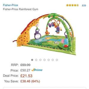 fisher price rainforest gym £21.53 @ Amazon