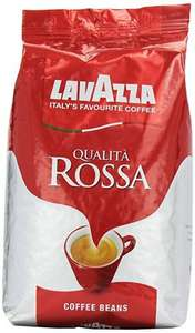 Lavazza Qualita Rossa Coffee Beans, Pack of 6, 6 x 1000g from Amazon for £48.90 Free delivery for Prime