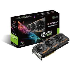 ASUS ROG Strix GeForce GTX 1070 8 GB £358.75 @ Amazon