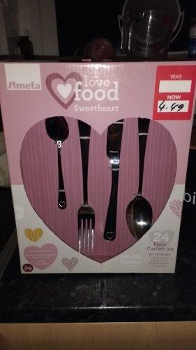 Amefa Sweetheart 24 piece Cutlery Set £4.49 instore @ Dunelm