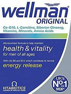 Wellman Original men's vitamin supplement on Amazon.  £3.14. free delivery above £20.