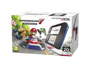 Nintendo 2DS (Black/Blue) With Mario Kart 7 Pre-Installed - £75.99 @ Tesco Direct / Amazon
