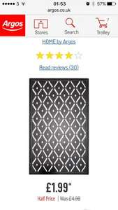 Heavy duty rubber doormat £1.99 @ Argos