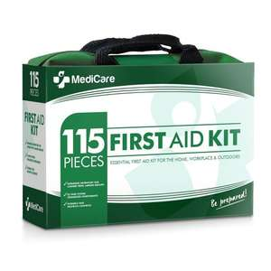 MediCare Deluxe First Aid Kit (115 Items)  Amazon £12.99 Prime, Free delivery for over £20 non prime Pick up from Amazon lockers + 100% Lifetime Replacement Guarantee