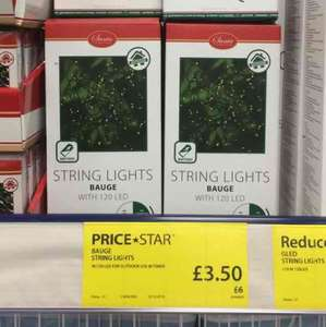 120 LED STRING LIGHTS WITH TIMER - £3.50 at JYSK
