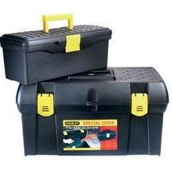 Stanley 49cm Tool Box + FREE 32cm Storage Box - £8.99 with code (Possible 5% cashback) @ Robert Dyas (Free C&C)