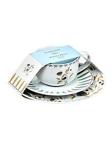 Linea Turtle Dove Porcelain Tea For 1 was £20 now £5 House of Fraser, Free c and c