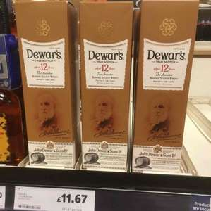 Dewar's 12year old 70cl Whisky only £11.67 @ Tesco in store