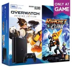 PlayStation 4 500GB Slim with Overwatch and Ratchet & Clank  £199.99  Game