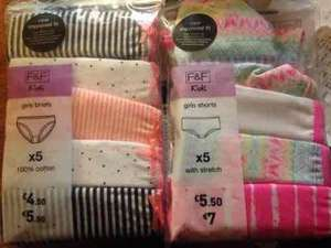 5 pack of girls knickers now 50p at Tesco (were £5.50)