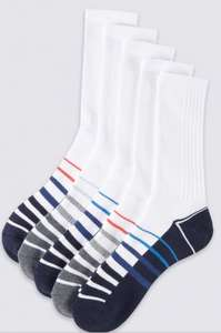 M&S 5 pair mens cotton rich socks. 75% off! Was £12. Now £2.99