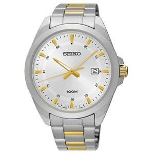 Seiko Gents Stainless Steel/Two Tone 3-Hand Bracelet Watch, £54 from debenhams