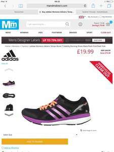 Adidas adizero tempo boost ladies running shoes £19.99 + £4.95 postage £24.94 @ m&mdirect