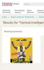 Central Intelligence DVD £3 Tesco Direct.  ( released 31/10/16)
