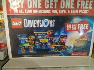 lego dimensions fun/level/team packs  buy one get one free.  Instore/online at Smyths