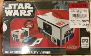 Debenhams - Google Cardboard Virtual Reality VR Headset Star Wars £4.50
