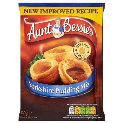 Aunt Bessie's Yorkshire Pudding Mix 120g 49p @ B&M