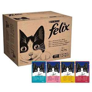 Felix Wet Cat Adult Food Pouch, 120 x 100 g £21.82 or £18.55 when S&s 5 or more items @ Amazon