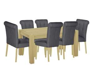 Home of Style Whipsnade Dining Table with 6 Grey Chairs £227.94 delivered Less Than Half Price (Was £649.99) @ argos.co.uk
