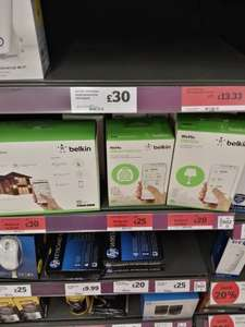 Half price Wemo smart Sainsburys instore - from £20