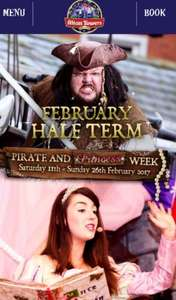 feb half term alton towers pirate & Princess breaks in enchanted village + waterpark + golf + sealife + breakfast  £40 pp 2 adult & 2 kids @ Alton Towers