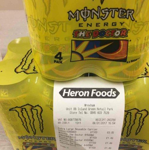 Monster Energy Drink 'The Doctor' 4 Pack £1.49 in Heron