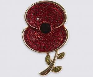 Poppy collection, small poppy badge. £3.49 from £15.00 at M&S and they donate too! Free C&C