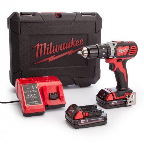 Milwaukee M18SET1C-152C compact combi drill with batteries 2 x 1.5Ah - £118.80 @ plumbcenter