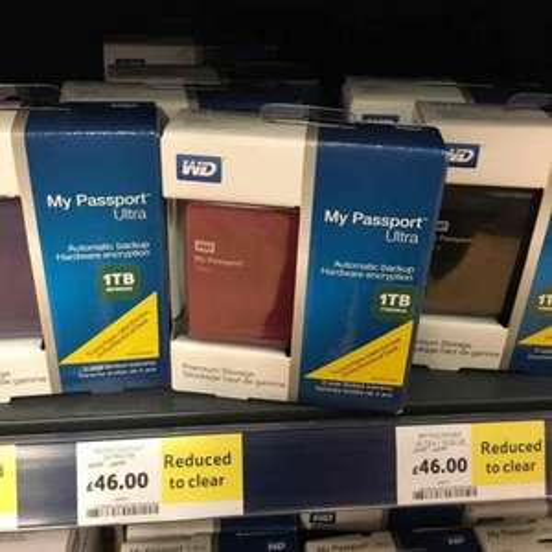 Western Digital 1Tb portable hard drive £46 instore @ Tesco