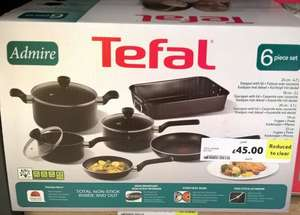 Tefal Admire 6 piece cookware set £45 (from £150) - Tesco instore