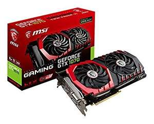 MSI GTX 1070 GAMING 8G NVIDIA GeForce Graphics Card - Black 8 GB GDDR5  (£375.34 - but no prime needed) Amazon