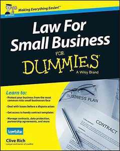Law for Small Businesses UK - For Dummies. Kindle Ed. Was £19.99 now £3.09