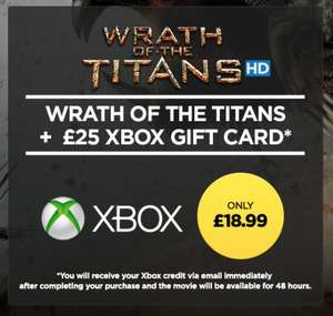 £25 Xbox Credit plus Wrath of the Titans HD - £18.99 - Wuaki