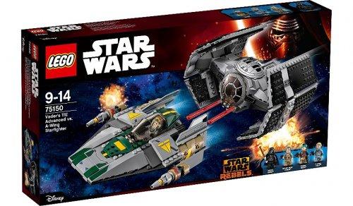 LEGO Star Wars - Vader's TIE Advanced vs. A-Wing Starfighter - 75150 - £40 @ Asda